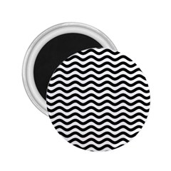 Waves Stripes Triangles Wave Chevron Black 2 25  Magnets by Mariart
