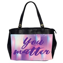 You Matter Purple Blue Triangle Vintage Waves Behance Feelings Beauty Office Handbags (2 Sides)  by Mariart