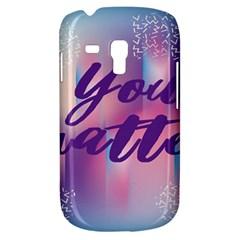 You Matter Purple Blue Triangle Vintage Waves Behance Feelings Beauty Galaxy S3 Mini by Mariart