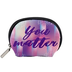 You Matter Purple Blue Triangle Vintage Waves Behance Feelings Beauty Accessory Pouches (small)  by Mariart