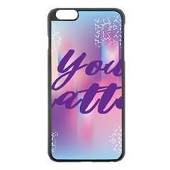 You Matter Purple Blue Triangle Vintage Waves Behance Feelings Beauty Apple Iphone 6 Plus/6s Plus Black Enamel Case by Mariart
