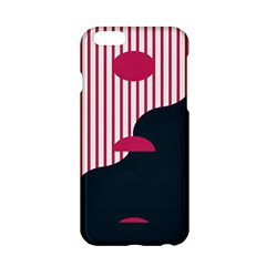 Waves Line Polka Dots Vertical Black Pink Apple Iphone 6/6s Hardshell Case by Mariart