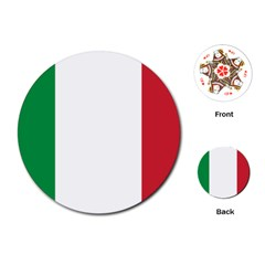 National Flag Of Italy  Playing Cards (round)  by abbeyz71
