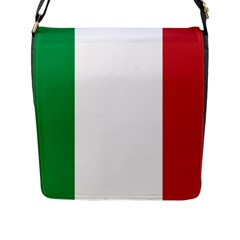 National Flag Of Italy  Flap Messenger Bag (l)  by abbeyz71
