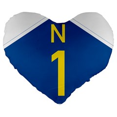 South Africa National Route N1 Marker Large 19  Premium Heart Shape Cushions by abbeyz71