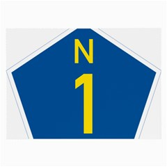 South Africa National Route N1 Marker Large Glasses Cloth by abbeyz71