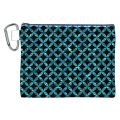 Circles3 Black Marble & Blue Green Water Canvas Cosmetic Bag (xxl) by trendistuff