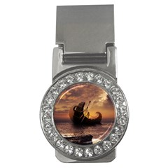 Steampunk Fractalscape, A Ship For All Destinations Money Clips (cz)  by beautifulfractals