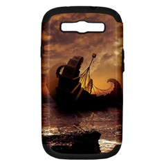 Steampunk Fractalscape, A Ship For All Destinations Samsung Galaxy S Iii Hardshell Case (pc+silicone) by beautifulfractals