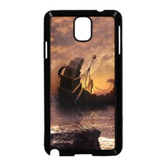 Steampunk Fractalscape, A Ship For All Destinations Samsung Galaxy Note 3 Neo Hardshell Case (black) by jayaprime