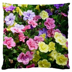 Lovely Flowers 17 Large Flano Cushion Case (two Sides) by MoreColorsinLife
