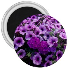 Wonderful Lilac Flower Mix 3  Magnets by MoreColorsinLife