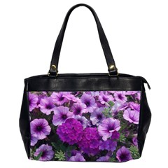 Wonderful Lilac Flower Mix Office Handbags (2 Sides)  by MoreColorsinLife