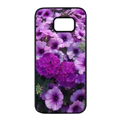 Wonderful Lilac Flower Mix Samsung Galaxy S7 Edge Black Seamless Case by MoreColorsinLife