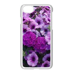 Wonderful Lilac Flower Mix Apple Iphone 7 Seamless Case (white) by MoreColorsinLife