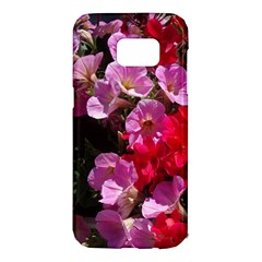 Wonderful Pink Flower Mix Samsung Galaxy S7 Edge Hardshell Case by MoreColorsinLife