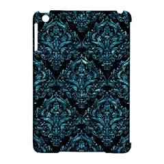 Damask1 Black Marble & Blue Green Water Apple Ipad Mini Hardshell Case (compatible With Smart Cover) by trendistuff