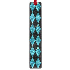 Diamond1 Black Marble & Blue Green Water Large Book Mark by trendistuff