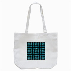 Circles1 Black Marble & Blue Green Water Tote Bag (white) by trendistuff