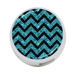 Chevron9 Black Marble & Blue Green Water (r) 4 Port Usb Hub (one Side) by trendistuff