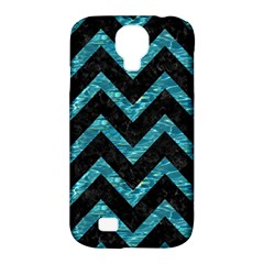 Chevron9 Black Marble & Blue Green Water Samsung Galaxy S4 Classic Hardshell Case (pc+silicone) by trendistuff