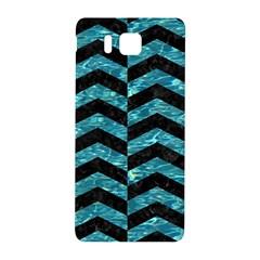 Chevron2 Black Marble & Blue Green Water Samsung Galaxy Alpha Hardshell Back Case by trendistuff