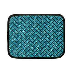Brick2 Black Marble & Blue Green Water (r) Netbook Case (small) by trendistuff