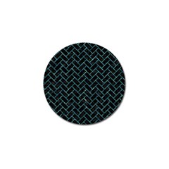 Brick2 Black Marble & Blue Green Water Golf Ball Marker (4 Pack) by trendistuff
