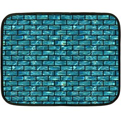 Brick1 Black Marble & Blue Green Water (r) Fleece Blanket (mini) by trendistuff
