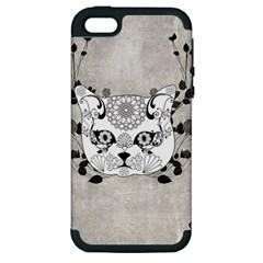 Wonderful Sugar Cat Skull Apple Iphone 5 Hardshell Case (pc+silicone) by FantasyWorld7