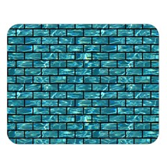 Brick1 Black Marble & Blue Green Water (r) Double Sided Flano Blanket (large) by trendistuff