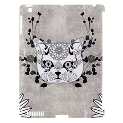 Wonderful Sugar Cat Skull Apple Ipad 3/4 Hardshell Case (compatible With Smart Cover) by FantasyWorld7