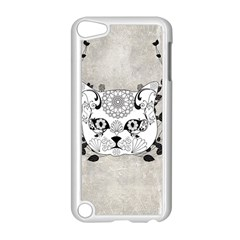 Wonderful Sugar Cat Skull Apple Ipod Touch 5 Case (white) by FantasyWorld7