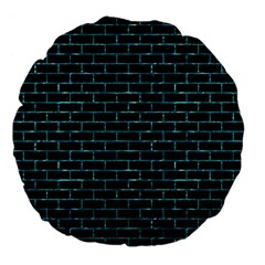 Brick1 Black Marble & Blue Green Water Large 18  Premium Flano Round Cushion  by trendistuff