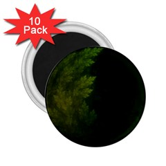 Beautiful Fractal Pines In The Misty Spring Night 2 25  Magnets (10 Pack)  by beautifulfractals