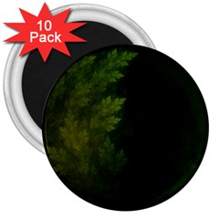 Beautiful Fractal Pines In The Misty Spring Night 3  Magnets (10 Pack)  by beautifulfractals