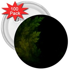 Beautiful Fractal Pines In The Misty Spring Night 3  Buttons (100 Pack)  by beautifulfractals