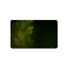 Beautiful Fractal Pines In The Misty Spring Night Magnet (name Card) by beautifulfractals