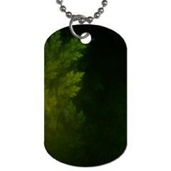 Beautiful Fractal Pines In The Misty Spring Night Dog Tag (two Sides) by beautifulfractals