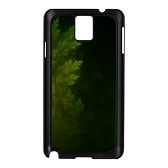 Beautiful Fractal Pines In The Misty Spring Night Samsung Galaxy Note 3 N9005 Case (black) by jayaprime