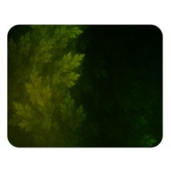 Beautiful Fractal Pines In The Misty Spring Night Double Sided Flano Blanket (large)  by jayaprime