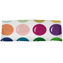 Brights Pastels Bubble Balloon Color Rainbow Body Pillow Case Dakimakura (two Sides) by Mariart