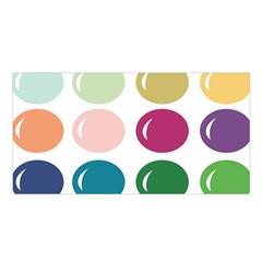 Brights Pastels Bubble Balloon Color Rainbow Satin Shawl by Mariart