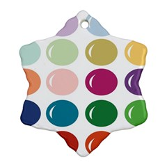 Brights Pastels Bubble Balloon Color Rainbow Ornament (snowflake) by Mariart