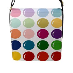 Brights Pastels Bubble Balloon Color Rainbow Flap Messenger Bag (l)  by Mariart