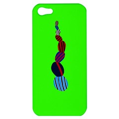 Egg Line Rainbow Green Apple Iphone 5 Hardshell Case by Mariart