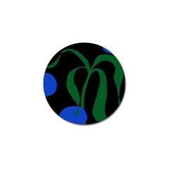 Flower Green Blue Polka Dots Golf Ball Marker (10 Pack) by Mariart