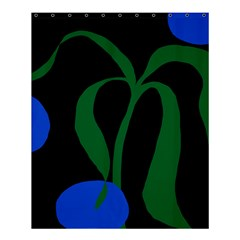 Flower Green Blue Polka Dots Shower Curtain 60  X 72  (medium)  by Mariart