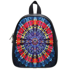 Circle Purple Green Tie Dye Kaleidoscope Opaque Color School Bags (small)  by Mariart