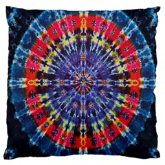 Circle Purple Green Tie Dye Kaleidoscope Opaque Color Large Cushion Case (two Sides) by Mariart